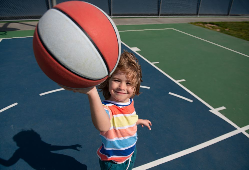 A Basketball Court & Big Yard For Daily Outdoor Play
